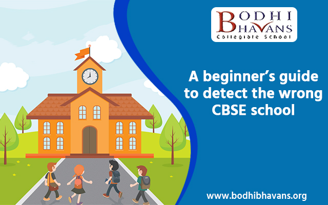 A beginner's guide to detect the wrong CBSE school