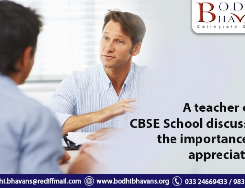 A teacher of a CBSE School discussed the importance of appreciation
